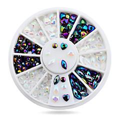 Bijuterie unghii-Încântător-Deget-Acrilic-6cm wheel-1wheel Heart nail decorations
