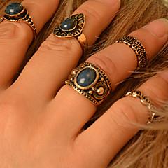 halpa Sormukset-Tyylikkäät sormukset Gemstone Metalliseos Muoti Pronssi Korut Party Päivittäin Kausaliteetti 1set