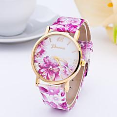 preiswerte Tolle Angebote auf Uhren-Damen Armbanduhr Armbanduhren für den Alltag Leder Band Modisch / Elegant Blau / Rot / Orange