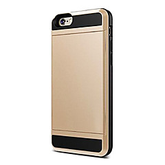 billige Etuier til iPhone 5S/SE-Etui Til Apple iPhone 6 iPhone 6 Plus Kortholder Bagcover Helfarve Blødt Silikone for iPhone 7 Plus iPhone 7 iPhone 6s Plus iPhone 6s