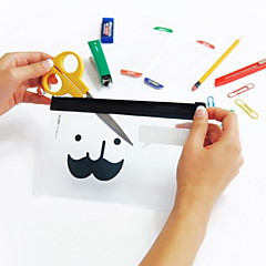 Mustache Pattern Translucent Frosted Ziplock Bag(1 PCS)