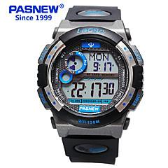 お買い得  メンズ腕時計-PASNEW 男性用 スポーツウォッチ PU バンド ブラック / 白 / ブルー