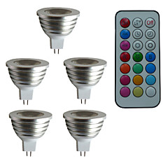 3W GU5.3(MR16) Focos LED MR16 1 leds LED de Alta Potencia 300lm RGB 6500~7000K Regulable Control Remoto Decorativa DC 12 AC 12