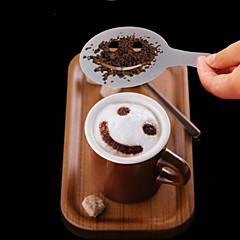 12p جيم البلاستيك يتوهم صنع القهوة نموذج الطباعة تصميم الحد الأدنى لوحة الغبار