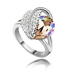 お買い得  指輪-女性用 ステートメントリング  -  銀メッキ 十字架 ワンサイズ フクシャ / ブルー / ライトブルー 用途 パーティー