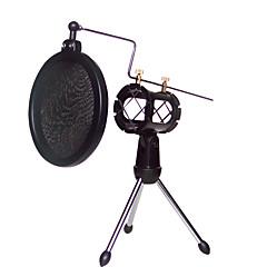 preiswerte Headsets und Kopfhörer-Schock Halterung Mikrofonständer Halterung mit integriertem Pop-Filter schwarz-Kit