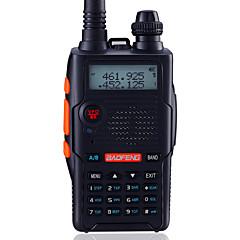 お買い得  トランシーバー-BAOFENG UV-5R5TH-BLK トランシーバー ハンドヘルド デジタル 音声プロンプト デュアルバンド デュアルディスプレイ デュアルスタンバイ CTCSS/CDCSS LCD FMラジオ 1.5KM-3KM 1.5KM-3KM 128 1800mAh 5W/1W