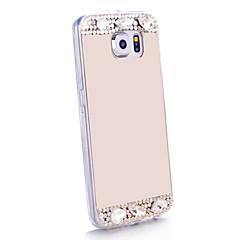 Varten Samsung Galaxy kotelo Paljetti / Peili Etui Takakuori Etui Kiiltävä TPU Samsung S6 edge / S6 / S5 / S4 / S3