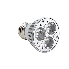 tanie Żarówki LED-3000 lm GU10 E26/E27 Żarówki punktowe LED MR16 3 Diody lED High Power LED Przysłonięcia Ciepła biel AC 220-240V