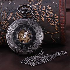 preiswerte Herrenuhren-Herrn Taschenuhr Mechanische Uhr Automatikaufzug Transparentes Ziffernblatt Legierung Band Analog Luxus Schwarz - Schwarz