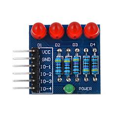 abordables Diodos-4p llevó PWM oscurecimiento diodo de luz roja del módulo - azul + rojo + multicolor adecuado para la investigación científica Arduino