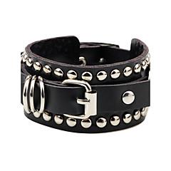 abordables Bijoux pour Femme-Bracelets en cuir - Cuir Original, Rétro, Soirée Bracelet Blanc / Noir Pour Soirée Cadeau Valentin