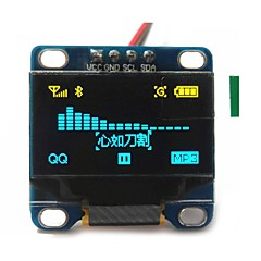 """abordables Pantallas-0.96 """"pulgadas CII serie 128x64 OLED LCD OLED de color amarillo y azul I2C llevó el módulo de visualización de Arduino 51 msp420 stim32"""