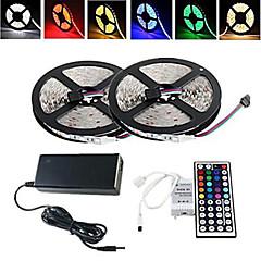 お買い得  LED ストリングライト-RGBストリップライト 300/10M LED RGB リモートコントロール カット可能 防水 変色 ノンテープ・タイプ 100-240V
