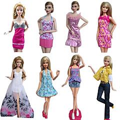 Prenses Kostümler İçin Barbie Bebek Elbiseler Etekler Üstler Pantalonlar İçin Kız Oyuncak bebek