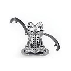 rajzfilm béka alakú tea szűrő tea infuser mini lemez rozsdamentes acél