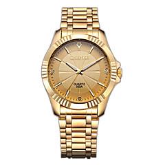 preiswerte Tolle Angebote auf Uhren-CHENXI® Herrn Armbanduhr / Simulierter Diamant Uhr Japanisch Imitation Diamant Edelstahl Band Luxus / Modisch / Kleideruhr Gold / Zwei jahr / Maxell626