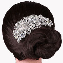 abordables Joyería para el Cabello-Mujer Cristal Plateado Peine - Fiesta Elegant Boda