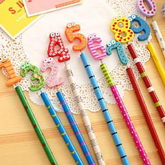 preiswerte Zubehör zum Zeichnen und Schreiben-Anzahl hölzernen Bleistift-Set (10 Stück)