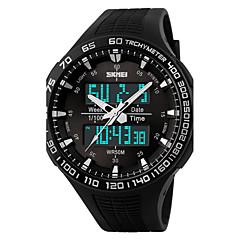 ieftine -Bărbați Quartz Calendar Cronograf Zone Duale de Timp alarmă Iluminat PU Bandă Negru Verde