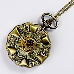 preiswerte Tolle Angebote auf Uhren-Herrn Taschenuhr Mechanische Uhr Automatikaufzug Transparentes Ziffernblatt Legierung Band Analog Charme Gold - Bronze