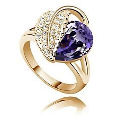 preiswerte Ringe-Damen Statement-Ring - versilbert Kreuz Eine Größe Fuchsia / Blau / Lavendel Für Party