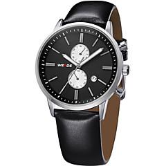 preiswerte Herrenuhren-WEIDE Herrn Armbanduhr Kalender / Wasserdicht Leder Band Luxus Schwarz