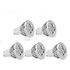 preiswerte LED-Birnen-4W GU10 LED Spot Lampen MR16 1 350-400 lm Kühles Weiß AC 85-265 V 5 Stück