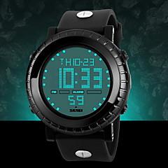 preiswerte Digitaluhren-SKMEI Herrn Quartz Japanischer Quartz Armbanduhr Alarm Kalender Chronograph Wasserdicht LCD Caucho Band Charme Schwarz