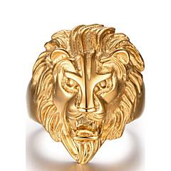 Heren Statementringen Modieus Kostuum juwelen Roestvast staal Dierenvorm Leeuw Sieraden Voor Dagelijks Causaal Sport Kerstcadeaus