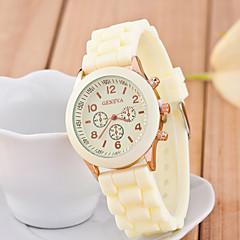お買い得  大特価腕時計-女性用 リストウォッチ クロノグラフ付き シリコーン バンド ハンズ 光沢タイプ ファッション ブラック / 白 / ブルー - レッド グリーン ピンク 1年間 電池寿命