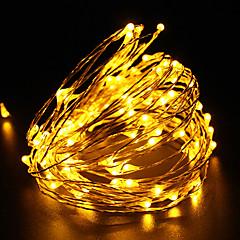 abordables Tiras LED-Luz llevada impermeable de la luz de la secuencia de la luz de la secuencia del dc12v 100led del alambre de cobre de 10m luz al aire libre