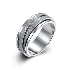 お買い得  指輪-女性用 キュート / 愛らしいです ボヘミアンスタイル 銀メッキ 指輪 / ステートメントリング / バンドリング - タッセル / パーティー / オフィス ホワイト リング 用途 結婚式 / パーティー / 日常