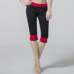 calças de yoga Cropped Respirável Natural Com Elástico Moda Esportiva Vermelho Preto Roxo MulheresIoga Taekwondo Exercício e Atividade