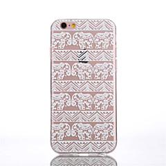 Недорогие Кейсы для iPhone 6-Кейс для Назначение iPhone 6 Plus iPhone 6 Прозрачный С узором Задняя крышка Слон Мягкий TPU для iPhone 6s Plus iPhone 6 Plus iPhone 6s
