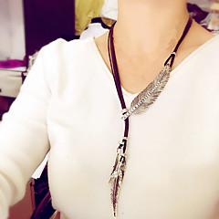 preiswerte Halsketten-Damen Statement Ketten - Leder, Diamantimitate Erklärung, damas, Retro, Modisch Silber, Braun, Golden Modische Halsketten Schmuck Für Party, Alltag, Normal