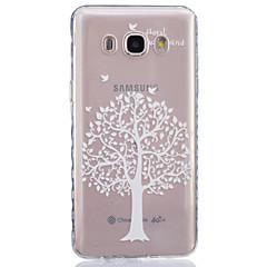 Varten Samsung Galaxy kotelo Läpinäkyvä Etui Takakuori Etui Puu Pehmeä TPUJ7 / J5 (2016) / J5 / J3 / J2 / J1 (2016) / J1 Ace / J1 / Grand