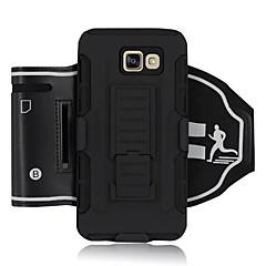 Для Samsung Galaxy Note Защита от удара / со стендом / Нарукавная повязка Кейс для С ремешком на руку Кейс для Армированный Твердый