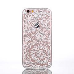 Для Кейс для iPhone 6 / Кейс для iPhone 6 Plus Прозрачный / С узором Кейс для Задняя крышка Кейс для Цветы Мягкий TPUiPhone 6s Plus/6