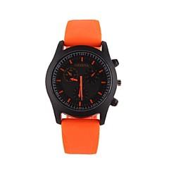 preiswerte Armbanduhren für Paare-Paar Armbanduhr Quartz Armbanduhren für den Alltag Silikon Band Analog Charme Freizeit Modisch Schwarz / Weiß / Blau - Gelb Rose Hellblau