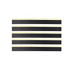 란다의 천서 TM-DIY 40 핀 2.54MM 여성 헤더 - 블랙 (5PCS)