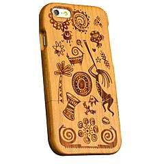 Для Кейс для iPhone 6 Кейс для iPhone 6 Plus Чехлы панели С узором Задняя крышка Кейс для Имитация дерева Твердый Дерево для AppleiPhone