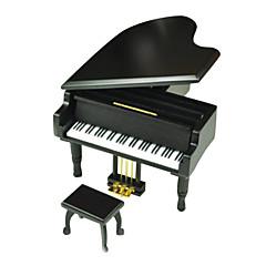 الصندوق الموسيقي ألعاب بيانو خشب معدن قطع هدية