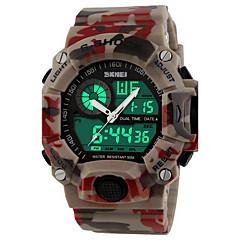 お買い得  大特価腕時計-SKMEI 男性用 スポーツウォッチ / リストウォッチ / デジタルウォッチ アラーム / カレンダー / クロノグラフ付き ラバー バンド ぜいたく / カモフラージュ / 耐水 / 光る / LCD / 2タイムゾーン / ストップウォッチ