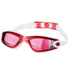 abordables Gafas de Natación-Gafas de natación Impermeable / Anti vaho / A prueba de dispersión Resina de ingeniería PC Rojo / Negro / Azul N / A