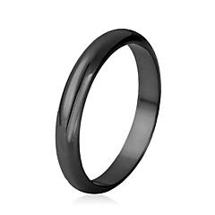 preiswerte Ringe-Damen Klobig Eheringe Bandring Statement-Ring - vergoldet Modisch 6 / 7 / 8 / 9 / 10 Schwarz / Silber / Golden Für Hochzeit Party Alltag