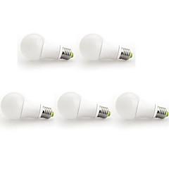 ieftine Cele Mai Vândute-9w e26 / e27 bulbi globe a60 (a19) 1 cob 1000 lm cald alb ac 100-240 v 5 buc