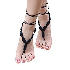 Kadın Ayak bileziği/Bilezikler Kumaş Moda Çok güzel Mücevher Uyumluluk Düğün Parti Günlük