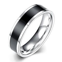 preiswerte Ringe-Herrn Bandring / Statement-Ring / Ring - versilbert Quaste, Böhmische, Punk 7 / 8 / 9 Weiß / Schwarz Für Hochzeit / Party / Alltag