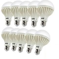 preiswerte LED-Birnen-YouOKLight 10 Stück 3W 150-200lm E26 / E27 LED Kugelbirnen C35 12 LED-Perlen SMD 5630 Dekorativ Warmes Weiß 220-240V